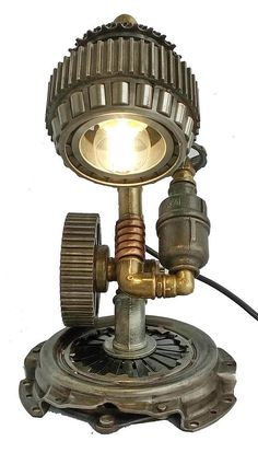 Edison Light, Steampunk Lamp, Table Lamp, Steampunk art, Vintage Light, Pipe Lamp, Bedside Lamp, Steampunk Lamp diy, Steampunk Lamp for sale