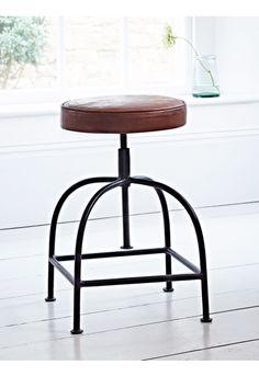 Leather Twist Stool - Stools - Furniture