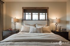 Guest Bedroom in Park City, Utah by Cameo Homes Inc. Utah Luxury Home Builders since 1976.