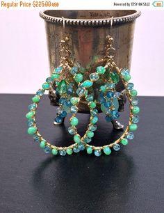 SALE 30% OFF Opal Earrings Mint Aqua Green Gem by DoolittleJewelry