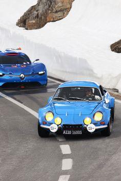 Renault Alpine A110-50 Concept and the original Alpine A110