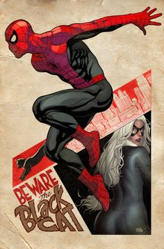 Amazing Spider-Man and Black Cat variant cover by Frank Cho                                                                                                                                                                                 More