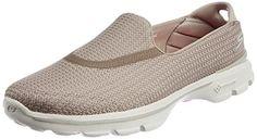 Skechers Damen Go Walk 3 Sneakers, Beige (Stn), 36 EU - http://on-line-kaufen.de/skechers/36-skechers-go-walk-3-damen-sneakers