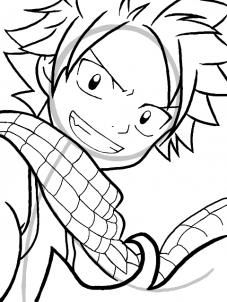 how to draw natsu dragneel from fairy tail