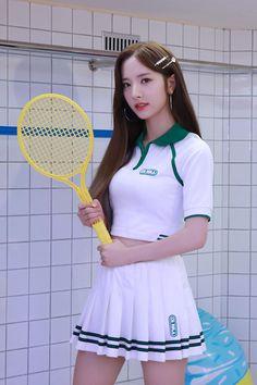 Cute Asian Girls, Beautiful Asian Girls, Cute Girls, Beautiful Girl Image, Beautiful Gorgeous, Korea Fashion, Girl Fashion, School Fashion, Tennis Wear