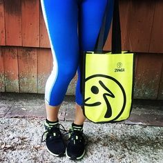 "ZUMBA Tote Bag 9""x 12""x 4"" ~Travel/Cosmetic~Gym& Shoe Bag~Lunch~fr.Convention #ZUMBA"