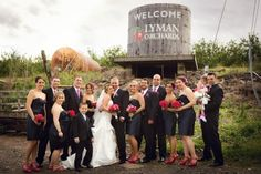 Exchange vows in Lyman Orchard's apple & peach orchards surrounded by the picturesque landscape of rural New England.