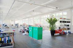 Open plan studio space