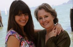 Chef Alice Waters with daughter Fanny