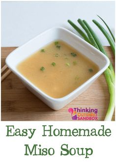 I love finding recipes to some of my favorite take out foods like easy homemade Miso Soup.
