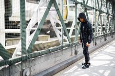 Creative Recreation ADDIS Tracksuit in Black Camo & CESARIO LO XVI Black Linear Sport