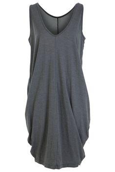 Metalicus clothing Curiously Draped Dress - Womens Knee Length Dresses at Birdsnest Online