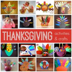 Simple Thanksgiving Activities & Crafts by Toddler Approved Thanksgiving Crafts For Kids, Thanksgiving Activities, Crafts For Kids To Make, Autumn Activities, Craft Activities, Preschool Crafts, Fall Crafts, Holiday Crafts, Holiday Fun