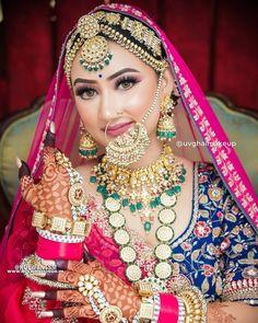 Bridal Jewellery Inspiration, Indian Bridal Jewelry Sets, Indian Bridal Makeup, Indian Bridal Outfits, Indian Bridal Fashion, South Indian Wedding Hairstyles, Rajasthani Bride, Beautiful Indian Brides, Bridal Makeover
