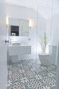 40 Modern Bathroom Tile Designs and Trends — RenoGuide - Australian Renovation Ideas and Inspiration Best Bathroom Tiles, Mosaic Bathroom, Bathroom Tile Designs, Bathroom Interior Design, Bathroom Flooring, Master Bathroom, Shower Tiles, Tile Flooring, Dyi Bathroom