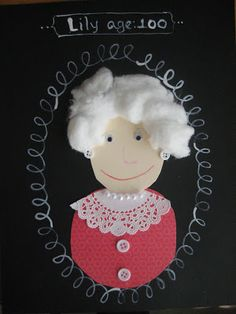 today is the 100th day of school at my children's school.  i came across this adorable self-portrait idea on pinterest and thought it would ...