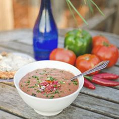 A cool soup for a hot day - Simple Summer Gazpacho