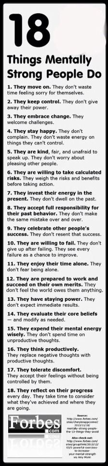 18 Things Mentally Strong People Do #Various #Trusper #Tip