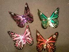 here are 4 of the hair clips I have made.
