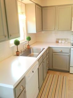 Kitchen Cabinet Makeovers Before And After the $159 kitchen makeover…revealed | 80 s, kitchens and house