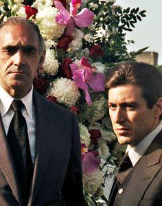 Abe Vigoda and Al Pacino - The Godfather - 1972