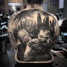 Photo by (maggiotattoo) on Instagram   #tattooeverythingelite #awesome #ukartist #blackandgreytattoo #horrortattoo #zombies #zombietattoo #tattoo #respect #amazing Zombie Tattoos, Horror Tattoos, Walking Dead Tattoo, Norman Reedus, Black And Grey Tattoos, Zombies, Awesome, Amazing, Art Work