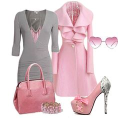 Find images and videos about love, fashion and cute on We Heart It - the app to get lost in what you love. Pink Outfits, Classy Outfits, Stylish Outfits, Beautiful Outfits, Cute Outfits, Look Fashion, Fashion Outfits, Womens Fashion, Feminine Fashion