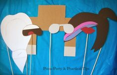 LEGO Movie Party Photo Props- Southern Outdoor Cinema expert tip for theming and enhancing an outdoor movie event