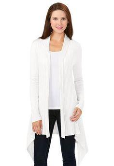 0b7f4e75158 Cato Fashions Open Drape Waterfall Cardigan  CatoFashions Plus Size Sweaters