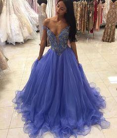 Charming Prom Dress,Beading Prom Dress,Organza Prom Dress,Off the Shoulder Prom