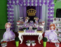 Decoração de aniversário tema Princesa Sophia.