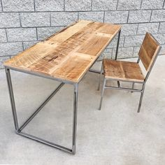 1000 Ideas About Wood And Metal Desk On Pinterest Metal