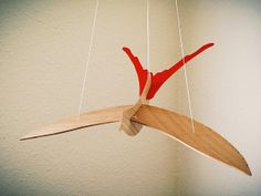 Bird Mobile  Red by RobinsonDesigns on Etsy, $70.00 I dig this.