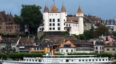 Nyon - its castle on the lake Vevey, Lausanne, Canton, Gaia, Switzerland, Places Ive Been, Images, Explore, Mansions