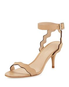 Reina+Wavy-Strap+Leather+Sandal,+Wheat+by+Loeffler+Randall+at+Neiman+Marcus.