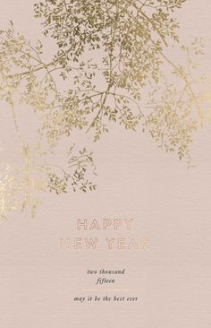 """Cocorrina """"Happy New Year"""" graphic. Love the pink and gold here!"""