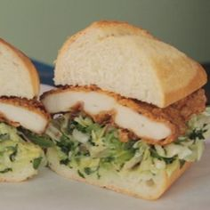 The Chew: Buttermilk Fried Chicken Sandwich Bakesale Betty. Well obviously this recipe isn't GF, but I know how to make it GF. But it was featured on The Chew. This woman makes these every day and the line forms around the block. So they must be good!!