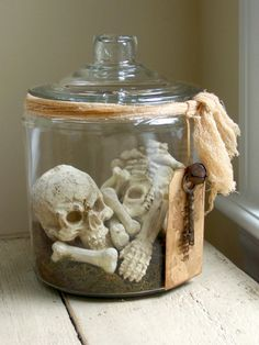Bones - Skeleton In Apothecary Jar - RESERVED. $39.00, via Etsy.