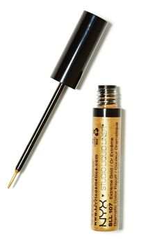 Have you ever tried gold eyeliner? It's so fun for a night out.