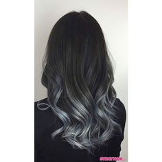 Gorgeous Gunmetal Gray Hair ❤ liked on Polyvore featuring beauty products, haircare and beauty