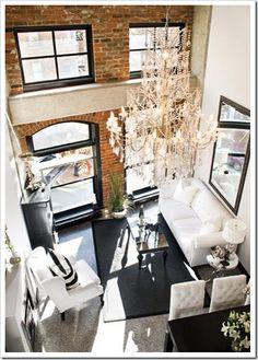 Salón de un apartamento en NYC