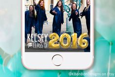 Graduation Party Snapchat Geofilter // On Demand by KBonBonDesigns