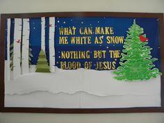 January Bulletin board for our church. Donna