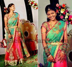 Reception Half Saree by Bhargavi | Saree Blouse Patterns