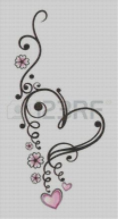 This Pin was discovered by Sib Cross Stitch Letters, Cross Stitch Heart, Cross Stitch Borders, Cross Stitch Designs, Cross Stitching, Cross Stitch Embroidery, Hand Embroidery, Beading Patterns, Embroidery Patterns