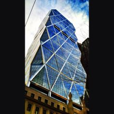 Hearst Tower on an early spring day (Instagram photo by @airgate israel)