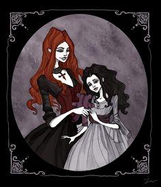 Sara and little Luciana by IrenHorrors.deviantart.com on @deviantART