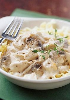 Chicken Stroganoff is a classic comfort food recipe, just like grandma used to make. The rich and creamy sauce is bursting with all your favorite flavors from childhood.