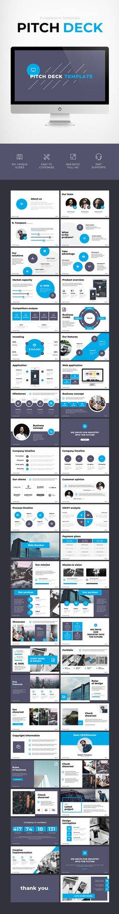Pitch Deck Template - #Business #PowerPoint Templates
