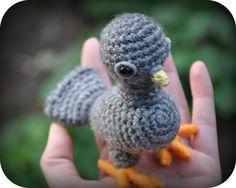 Grietjekarwietje: Haakpatroon jonge duif / Amigurumi pattern Young P...